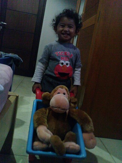 Dipo and his monkey